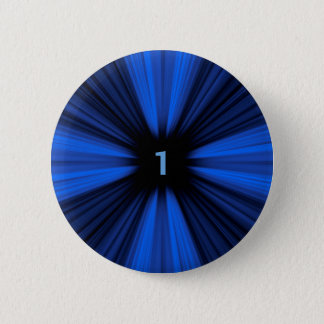 Blauw nummer 1 ronde button 5,7 cm