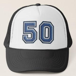 Blauw Nummer 50 Trucker Pet