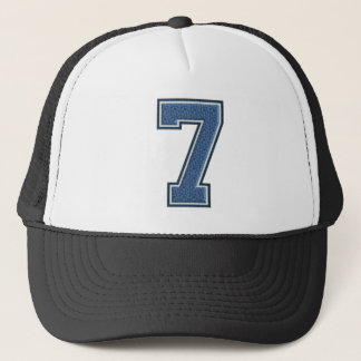 Blauw Nummer 7 Trucker Pet