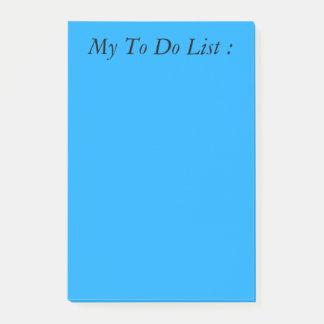 Blauw om de Post-it van de Lijst te doen Post-it® Notes