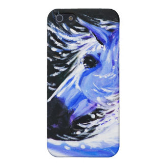 Blauw paard iPhone 5 cover