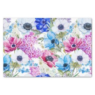 Blauw paarse hand geschilderd waterverf 25,4 x 38,1 cm tissue papier