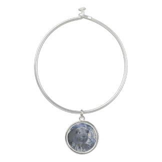 blauw proefkonijn bangle armbandje