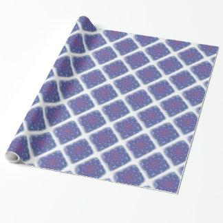 Blauw, Purples, Fractal van Viooltjes met het Inpakpapier
