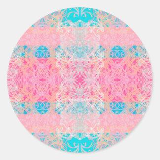 blauw ronde sticker