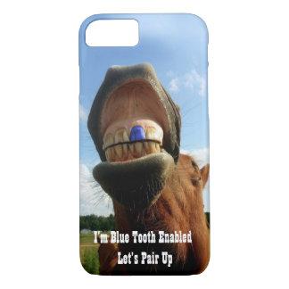 Blauw Tand Toegelaten Paard iPhone 8/7 Hoesje
