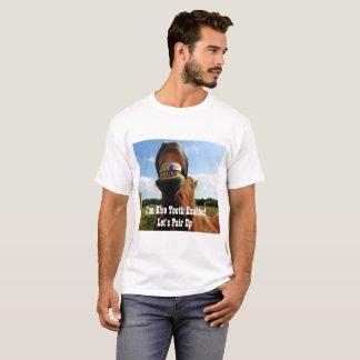 Blauw Tand Toegelaten Paard T Shirt