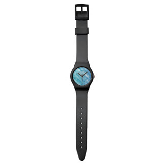 Blauw turkoois veelhoekig mannenMay28th Horloge