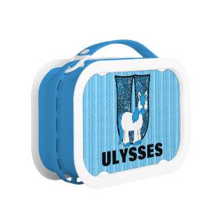 """Blauw """"U Met monogram """" van de Eenhoorn Lunchbox"""