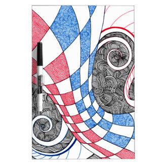 Blauw van de Buis van de abstracte Krabbel Zen het Whiteboard