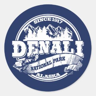 Blauw van de Cirkel van Denali het Oude Ronde Sticker