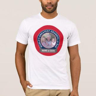 Blauw van de Foto van de Opa van de Papa van de T Shirt