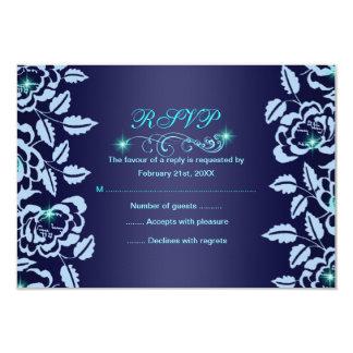 Blauw van de prinses nam Kaart Sweet16 RSVP toe 8,9x12,7 Uitnodiging Kaart