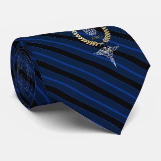 Blauw van het Monogram van de Beroeps van de Persoonlijke Stropdassen