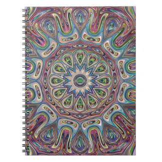 Blauw van Mandala nam Notitieboekje toe Notitieboek