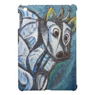 Blauw Vee Jeweled (abstract dier die schilderen) Hoesjes Voor iPad Mini