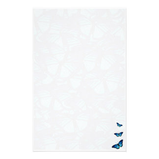 Blauw vlinderbriefpapier briefpapier