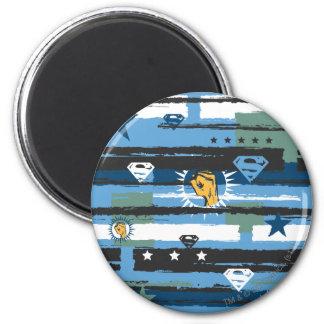Blauw, Wit en Vuist Koelkast Magneet