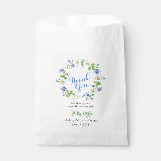 Blauw Wit Land Daisy Floral Wedding Thank You Bedankzakje