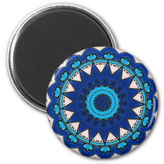 Blauw & Wit Ontwerp Turkse Iznik Magneet