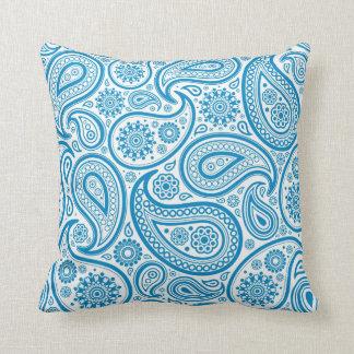 Blauw & Wit Vintage BloemenPaisley Sierkussen
