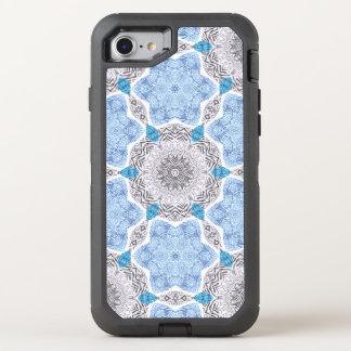 Blauw Zwart Gestreept Patroon OtterBox Defender iPhone 8/7 Hoesje
