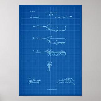 Blauwdruk van het Antiek Poster van het Octrooi