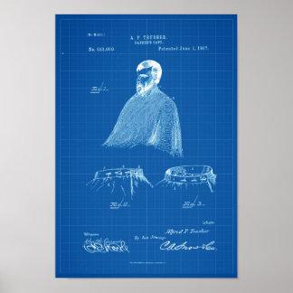 Blauwdruk van het Poster van het Octrooi van de