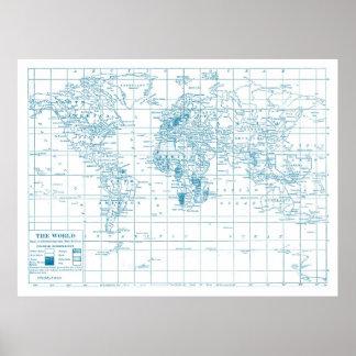 Blauwdruk voor de Wereld Poster