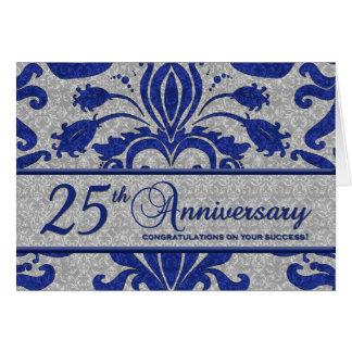 Blauwe 25ste Van het Bedrijfs Jubileum Groet Wenskaart