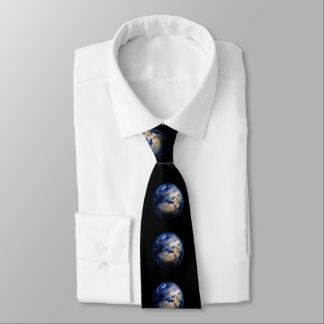 Blauwe Aarde van de Ruimte Inspirerend Wereld van Custom Stropdassen