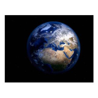 Blauwe Aarde van Ruimte - het Huis van de Wereld Briefkaart