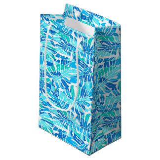 Blauwe abstracte branding klein cadeauzakje