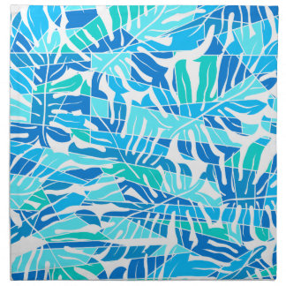 Blauwe abstracte branding servet