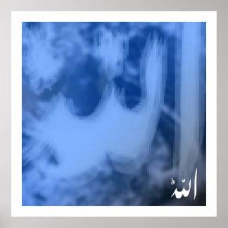 (Blauwe) Allah Poster