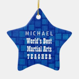 Blauwe Bakstenen van de Leraar van de Vechtsporten Keramisch Ster Ornament