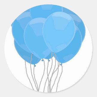 Blauwe Ballons Ronde Sticker