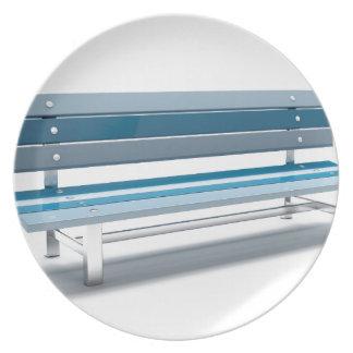 Blauwe bank melamine+bord