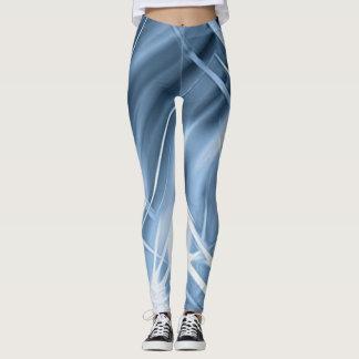Blauwe beenkappen met actieve krommen leggings