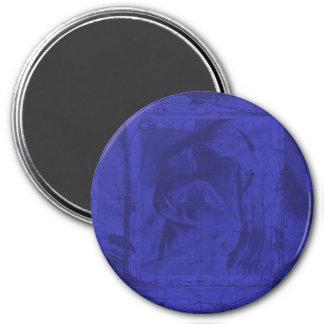 Blauwe Bezinningen Koelkast Magneet