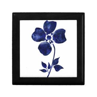 Blauwe Bloem Decoratiedoosje