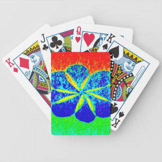 blauwe bloem poker kaarten