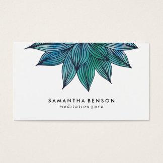 Blauwe Bloem | van Lotus BloemenWaterverf Visitekaartjes
