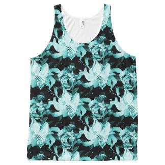 Blauwe Bloemen All-Over-Print Tank Top