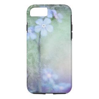 Blauwe Bloemen die het ontwerp van het iPhone 7 Hoesje