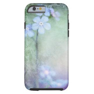 Blauwe Bloemen die het ontwerp van het Tough iPhone 6 Hoesje