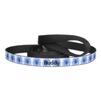 blauwe bloemen voor huisdierenleibanden hondenlijn