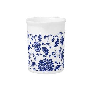 Blauwe BloemenWaterkruik Drink Pitcher