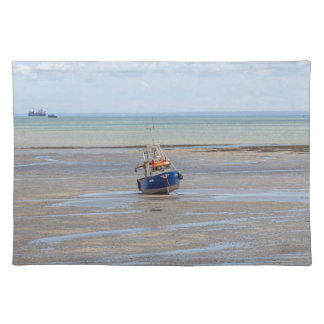 Blauwe boot at low tide placemat