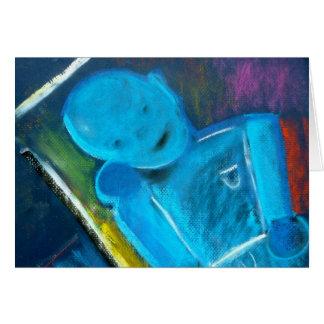 Blauwe bot notakaart door Spijker zonder kop Hines Kaart